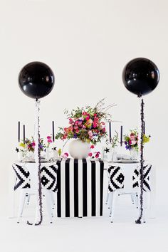 Modern black, pink and aqua wedding ideas