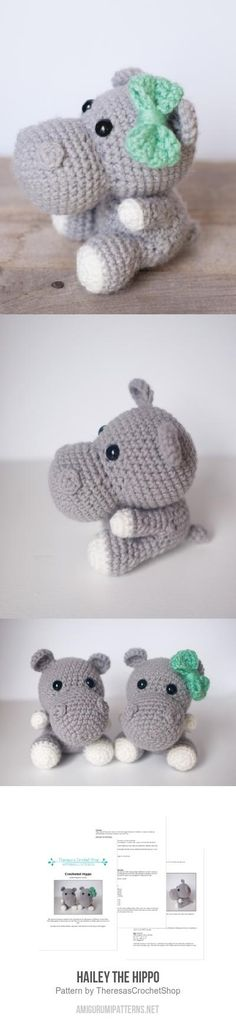 Hailey the Hippo amigurumi pattern