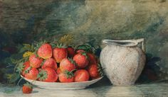 Richard La Barre Goodwin (1840-1910) - Still life with strawberries