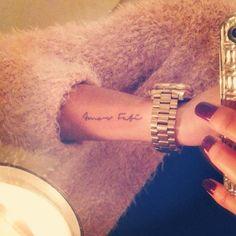 hippie tattoo 477803841721103025 - 35 Beautiful Amor Fati Tattoo Designs and Meaning – Buzz Hippy Source by Amor Tattoo, Fate Tattoo, Lyric Tattoos, Tattoo Script, Wrist Tattoos, Body Art Tattoos, Mini Tattoos, Small Tattoos, Piercing Tattoo