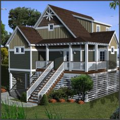 Beach House Plans & Coastal Home Plans – The House Plan Shop ...
