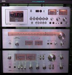 Akai vintagehifi Radios, Audio Rack, Hifi Audio, Audio System, Tv On The Radio, Audiophile, 1980s, Retro Vintage, Computers