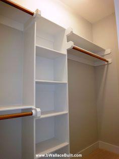 Custom built in shelves for the Master Closet