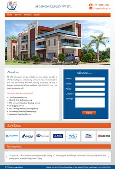 ABCAD, delhi based 3D design company's landing page design