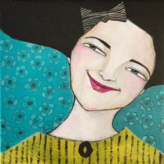 Monica Blom Art: HAPPY !  en färsking som blev klar idag. Hon inspi...
