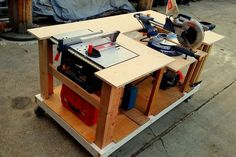 Picture of Mobile Workbench With Built-in Table & Miter Saws