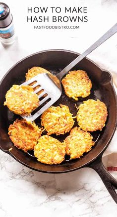 Looking for simple and quick hash browns? Take a look at this hashed browns recipe similar with rosti. Great to serve for breakfast or as a side dish. Milk Recipes, Chef Recipes, Brunch Recipes, Breakfast Recipes, Cooking Recipes, Brunch Food, Cooking Tips, Vegetarian Recipes, Raw Potato