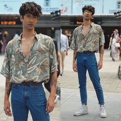 Veja como usar moda retrô no seu estilo, com dicas simples. 80s Fashion Men, Best Mens Fashion, Fashion Models, Vintage Fashion, Outfits Casual, Style Outfits, Fashion Outfits, Style Fashion, Fashion Styles
