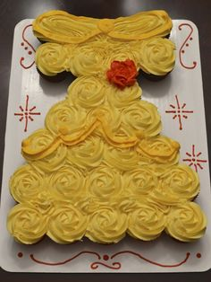 Belle (from Beauty and the Beast) Dress Cupcake Cake