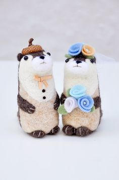 Otter Wedding Toppers by Noristudio