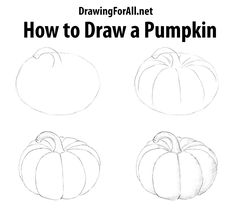 Pencil Drawing Patterns How to Draw a Pumpkin - Greetings, dear artists and lovers of art! New drawing lesson as always already waiting for you on our site, and today we'll show you how to draw a vegetable. Fall Drawings, Doodle Drawings, Drawing Sketches, Pencil Drawings, Halloween Doodle, Halloween Drawings, Pumkin Drawing, Thanksgiving Drawings, Pumpkin Sketch