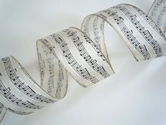 wired Christmas ribbon decorations Musical by AllRibbonsAndThings, $5.50