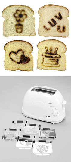 This toaster makes fun pictures on your toast! #product_design