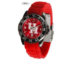 The Fantom Sport AnoChrome Houston Cougars Watch is available in a Mens style. Showcases the Cougars logo. Color-coordinated linked steel band. Free Shipping. Visit SportsFansPlus.com for Details.