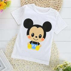 2016 Summer Baby 1-2 T Boys Girls T-shirt Short Sleeve O-Neck 100%Cotton tees Kids  White Clothes Character Cute Monkey Printed #>=#>=#>=#>=#> Click on the pin to check out discount price, color, size, shipping, etc. Save and like it!