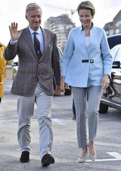 Queen Mathilde and King Philippe visited Oostduinkerke