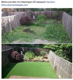 WOW! What a transformation to this backyard! #synlawn