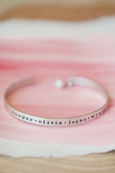 Thin Sterling Cuff {Sterling Silver} - Personalized Jewelry - Jewelry #trendyjewelry