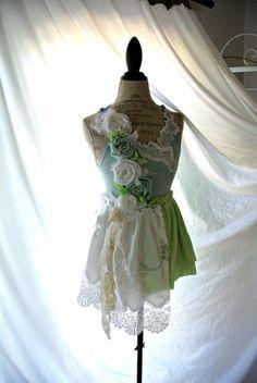 Summer tunic Woman's shabby shirt romantic by TrueRebelClothing, $74.00