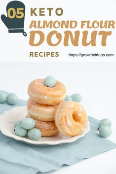 Let's see 5 Guilt-Free Almond Flour Keto Donut Recipes and get some to try! Let's see 5 Guilt-Free Almond Flour Keto Donut Recipes and get some to try! Keto Friendly Desserts, Low Carb Desserts, Low Carb Recipes, Keto Donuts, Keto Cookies, Cookie Recipes, Dessert Recipes, Brownie Recipes, Cheesecake Recipes