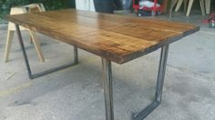 Tapered Modern Dining Table by 5thand12th on Etsy