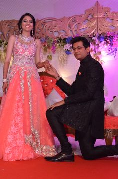 New Delhi, 20thOctober, 2013:   Genie Infotainment Pvt. Ltd, India's foremost event management company declares the creation of the Genie magic in the auspicious engagement ceremony of Dr.Swapnil sikha and Ritik Kumar Sinha at Durbar hall, Taj Palace. 'Royal Fantasy' was the theme created for the couple which was conceptualized exploring the recent trends in wedding fashion blended with the aesthetic beauty of Indian Cultural heritage.