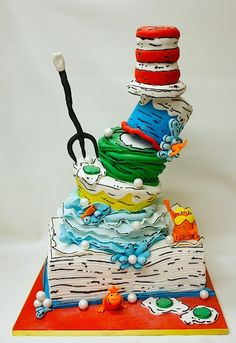 Lulu Cakes is a boutique bakery in Scarsdale, NY specializing in ornate custom cakes. Pretty Cakes, Cute Cakes, Beautiful Cakes, Amazing Cakes, Fondant Cakes, Cupcake Cakes, Dr Suess Cakes, Book Cakes, Fancy Cakes