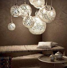 elle decor moroccan home   Déco orientale : luminaire by Zenza