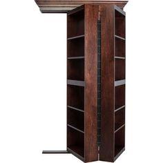 """Murphy Door 48"""" Bi-Fold Hidden-Door Book Case, White or Espresso"""