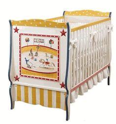 Hand Painted Circus Crib