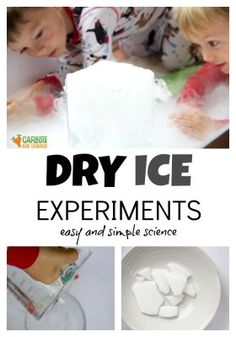 Wondering what to do with dry ice? This post includes 3 easy science experiments for kids using dry ice! Introduce kids to this amazing science! Dry Ice Experiments, Science Experiments For Preschoolers, Preschool Science, Science For Kids, Science Ideas, Science Demonstrations, Preschool Themes, Elementary Science, Science Classroom