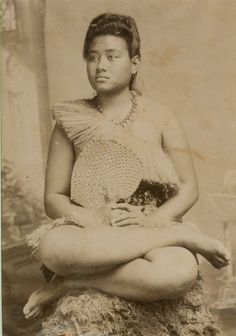 Young Samoan Woman, South Pacific. c1876