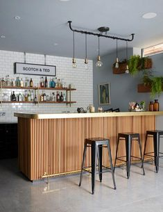 57 Fabulous Home Bar Designs You'll Go Crazy For. Decorating your ideal home bar design. Consider yourself lucky if you've got your own home bar – it's a perfect social gathering spot that's. Home Bar Rooms, Diy Home Bar, In Home Bar Ideas, Bar Counter Design, Kitchen Bar Counter, Kitchen Bar Design, Kitchen With Bar Counter, Back Bar Design, Kitchenette Design