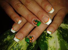 ORANGE FLOWER!! by R7777 - Nail Art Gallery nailartgallery.nailsmag.com by Nails Magazine www.nailsmag.com #nailart