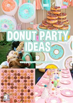 Planning a donut birthday party? Here is a list of everything you need to put one a super sweet (and yummy) donut party. From free donut invites, to free party printables and favor boxes - we have you covered. 9 Year Old Girl Birthday, Girls Birthday Party Games, Donut Birthday Parties, Birthday Activities, Girl Birthday Themes, Birthday Party Tables, Donut Party, Birthday Ideas, 3rd Birthday