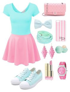"""""""Cotton candy"""" by ibchillin ❤ liked on Polyvore"""
