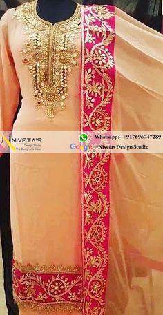 Party wear punjabi suit @nivetas  Query  Whatsapp:-  +917696747289  E-mail:- nivetasfashion@gmail.com