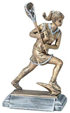 Lacrosse Player Resin Trophy - Female