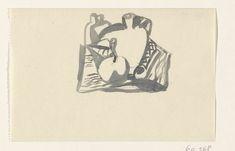 Leo Gestel   Ontwerp voor een vignet: stilleven, Leo Gestel, 1891 - 1941   Ontwerp voor een prent.