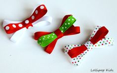 The colours make think of Christmas! | Hair Clips for Baby Baby Hair Clips Kids by Lollipopkidsboutique, $7.00 | Nailed it!!!