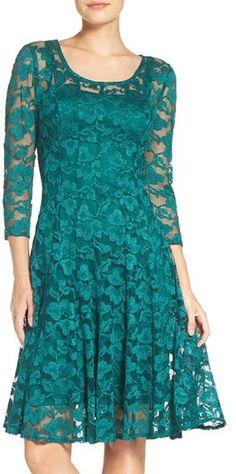 Women's Chetta B 'Magic' Lace Fit & Flare Dress