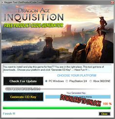 Dragon Age Inquisition Free Product Keys
