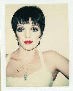 Liza Minnelli.  Polaroid by Andy Warhol, 1977.
