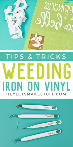 Weeding Iron On Vinyl: Tips and Tricks for Making it Easy Frustrated weeding iron on vinyl for projects made using your Cricut or other cutting machine? Here are tips and tricks to make weeding HTV easier! Cricut Iron On Vinyl, Cricut Htv, Cricut Craft, Weeding Tips, Cricut Tutorials, Cricut Ideas, Silhouette Cameo Projects, Cricut Creations, Diy Home Crafts