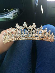 Gold Sweet Sixteen/Quinceanera tiara. - dresses, quinceanera, designer, gold, casual, for kids dress *ad