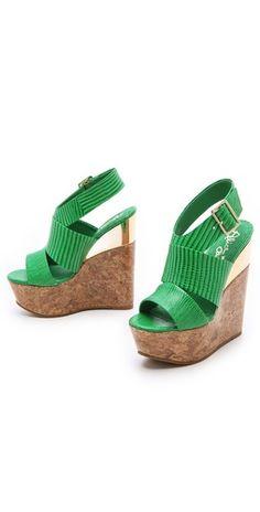alice + olivia Steffie Embossed Wedge Sandals | SHOPBOP