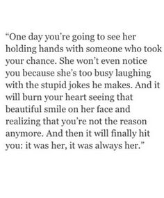 Break up quotes; the one that got away