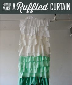 Learn how to make a ruffle shower curtain inspired by anthro with our How to Make Curtains sewing tutorial. Design an easy ruffled shower curtain with us!