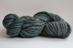 Hand Spun Hand Dyed  Thick and Thin   Super Bulky by handspunwool, $12.00