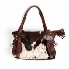 75555c2e95aa Zulucow Nguni cowhide leather shoulder bag brown and white fashion bag  women accessories handbags Cowhide Bag